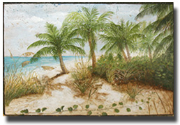 Hand-Painted-Stone-Palm-and
